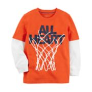 "Baby Boy Carter's ""All Heart"" Basketball Hoop Graphic Tee"