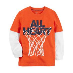 "Baby Boy Carter's ""All Heart"" Basketball Hoop Graphic Tee"