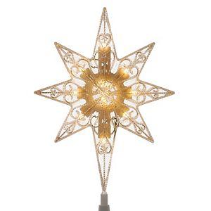 Northlight Seasonal 8 Light Up 8 Point Star Christmas Tree Topper