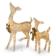 National Tree Company Light-Up Doe & Fawn Indoor / Outdoor 2-piece Set
