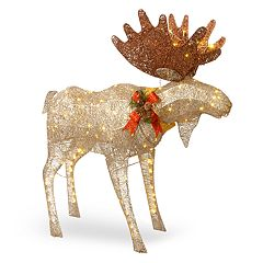 National Tree Company 48-in. Light-Up Moose Indoor / Outdoor Decor