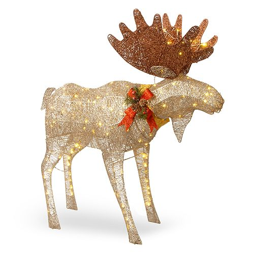National Tree Company 48 In Light Up Moose Indoor Outdoor Decor