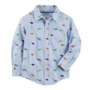 Baby Boy Carter's Chambray Dinosaurs Button Down Shirt