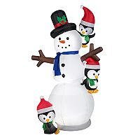 National Tree Company 83-in. Inflatable Snowman & Penguin Indoor / Outdoor Christmas Decor