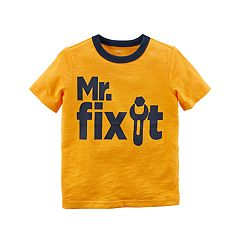 Baby Boy Carter's 'Mr. Fix It' Slubbed Tee