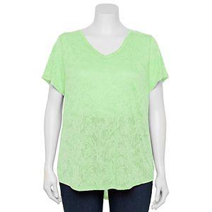 Plus Size Tek Gear® Essential Short Sleeve V-Neck Tee