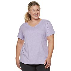 Plus Size Tek Gear® Dry Tek Graphic V-Neck Tee