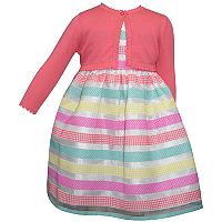 Girls 4-6x Blueberi Boulevard Striped Dress & Cardigan Set