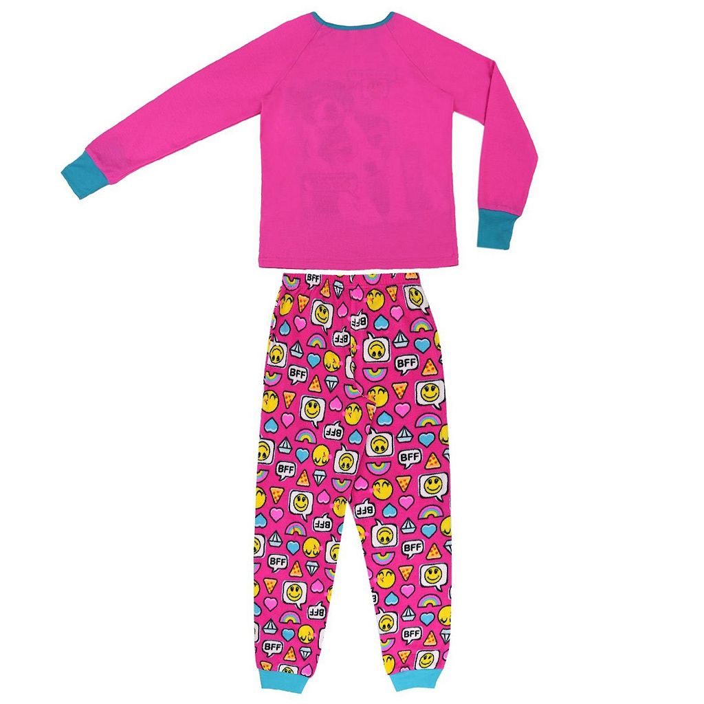 Girls 4-16 Jellifish 2-pc. Puppy & Emoji Graphic Pajama Set