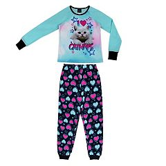 Girls 4-16 Jellifish 2 pc Puppy & Emoji Graphic Pajama Set