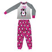 Girls 4-16 Jellifish 2 pc Penguin Graphic Pajama Set