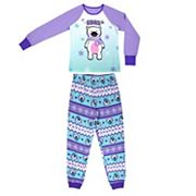 Girls 4-16 Jellifish 2 pc Penguin Graphic Pajama Set