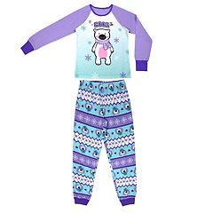Girls 4-16 Jellifish 2-pc. Penguin Graphic Pajama Set