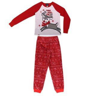 Girls 4-16 Jellifish 2-pc. Reindeer Graphic Pajama Set