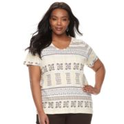 Plus Size Croft & Barrow® Essential V-neck Tee