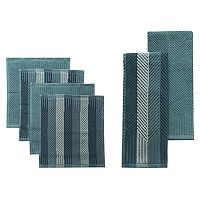Food Network™ Striped Kitchen Towel & Dishcloth Multi-Pack