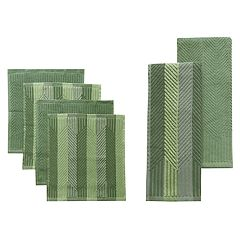 Food Network™ Striped Kitchen Towel & Dishcloth Multi-Pack