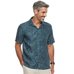 Men's Batik Bay Regular-Fit Tropical Microfiber Button-Down Shirt
