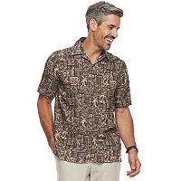 Men's Batik Bay Regular-Fit Tropical Microfiber Button-Down Shirt