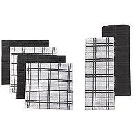 Food Network™ Plaid Kitchen Towel & Dishcloth Multi-Pack