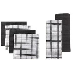 Food Network™ Plaid Kitchen Towel & Dishcloth Multi-Pack