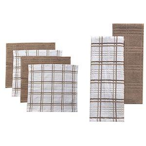 Food Network? Plaid Kitchen Towel & Dishcloth Multi-Pack