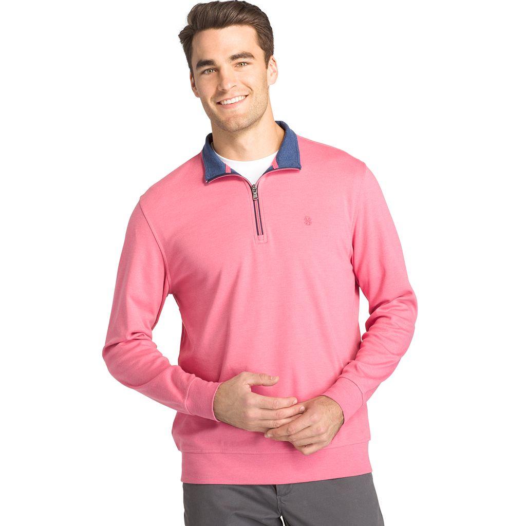 Men's IZOD Saltwater Classic-Fit Fleece Quarter-Zip Pullover