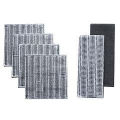 Food Network™ Awning Stripe Bar Mop Dish Cloth & Kitchen Towel 4-pack