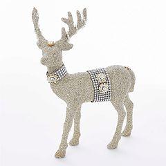 Kurt Adler Glitter Glamour Deer Decor