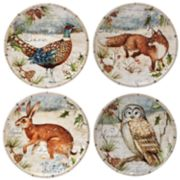 Certified International Winter Lodge 4-pc. Canape Plate Set