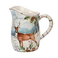 Certified International Winter Lodge Deer Pitcher
