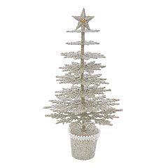 Kurt Adler 13.5-in. Glitter Glamour Christmas Tree Decor