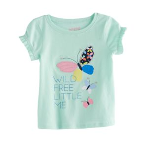 Jumping Beans® Baby Girl Ruffle Sleeve Butterfly Tee
