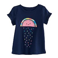 Jumping Beans® Baby Girl Ruffle Sleeve Graphic Tee