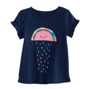 Jumping Beans® Baby Girl Ruffle Sleeve Graphic Tee