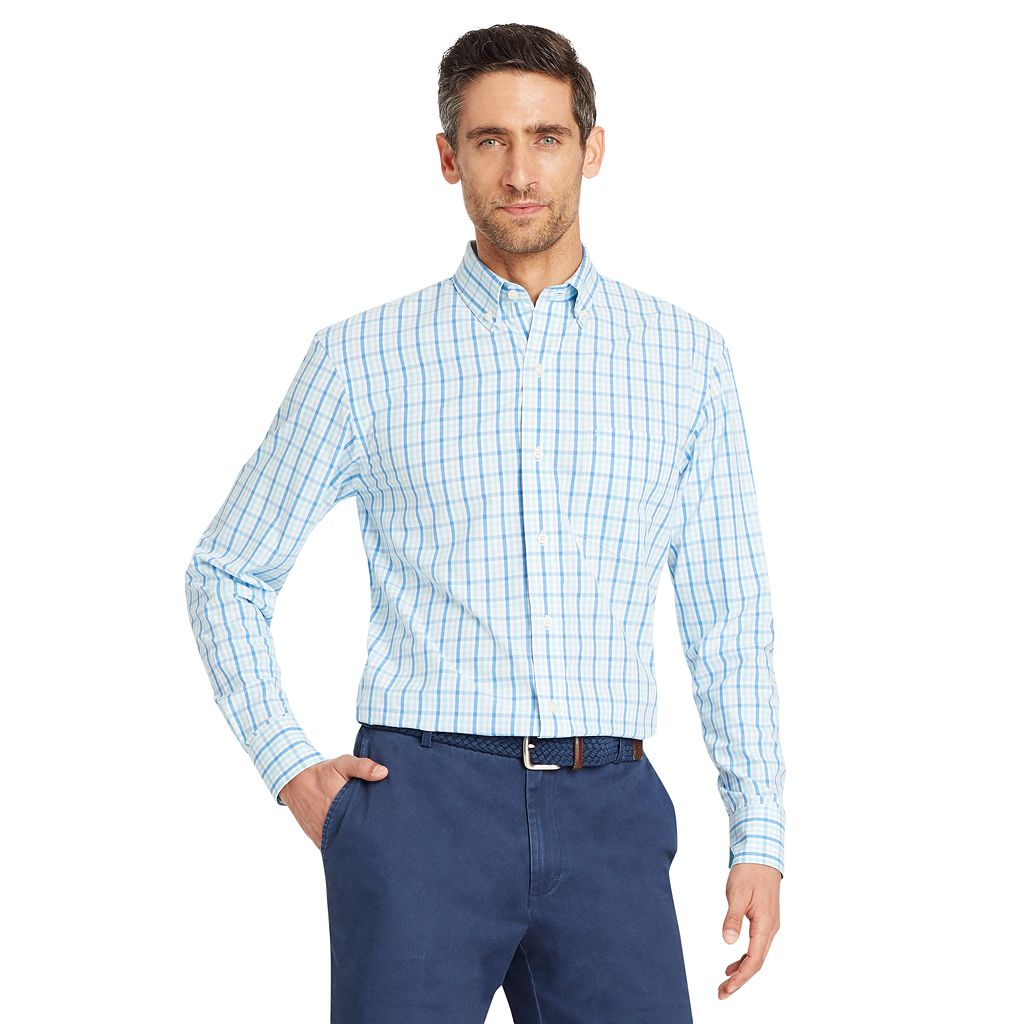 Men's IZOD Essential Classic-Fit Premium Stretch Button-Down Shirt