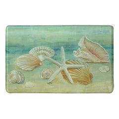 Bacova Horizon Shells Memory Foam Kitchen Rug