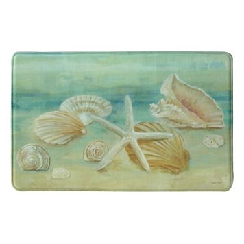 Bacova Horizon Shells Memory Foam Kitchen Rug