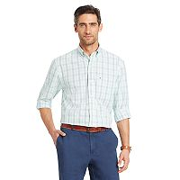 Men's IZOD Classic-Fit Essential Plaid Woven Button-Down Shirt