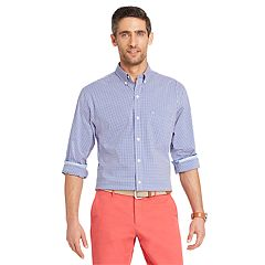 Men's IZOD Classic-Fit Essential Gingham Woven Button-Down Shirt