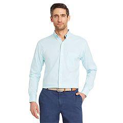 Men's IZOD Classic-Fit Essential Gingham Woven Button-Down Shirt