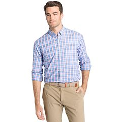 Men's IZOD CoolFX Classic-Fit Tattersall Plaid Moisture-Wicking Button-Down Shirt