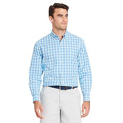 Men's IZOD CoolFX Classic-Fit Tattersall Plaid Moisture-Wicking Button-Down Shirt