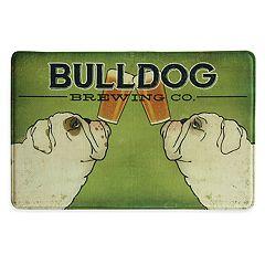 Bacova Dog Brewing Memory Foam Kitchen Rug