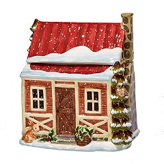 Certified International Winter Lodge Cabin 3D Cookie Jar