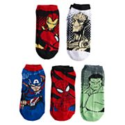 Boys 4-20 Marvel Comics 5-Pack No-Show Socks