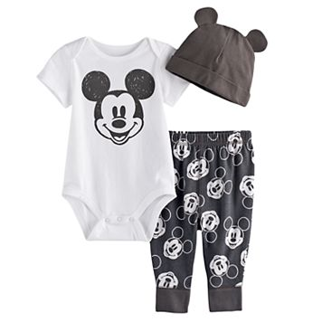 Disney's Mickey Mouse Baby Boy Bodysuit, Pants & Hat Set by Jumping Beans®
