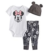 Disney's Minnie Bodysuit, Pants, & Hat Set by Jumping Beans®