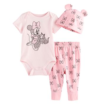 Disney's Minnie Bodysuit, Pants, & Hat Set by Jumping Beans®