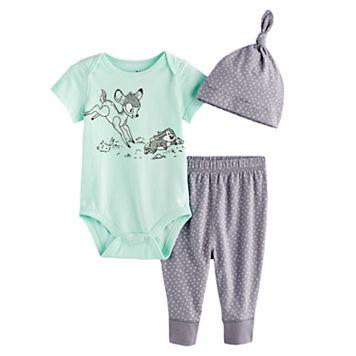 Disney's Bambi Bodysuit, Pants, & Hat Set by Jumping Beans®